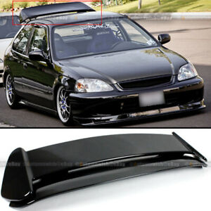For 96 00 Civic Hatchback Ek Painted Glossy Black Type r Style Roof Wing Spoiler