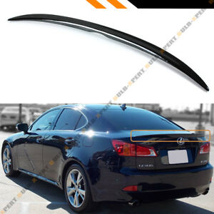 For 2006 13 Lexus Is 250 350 Isf Vip Painted Glossy Blk Rear Trunk Lid Spoiler