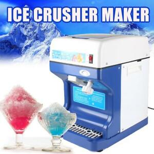 Us Ship Electric Ice Shaver Crusher Tabletop Commercial Snow Cone Maker Machine