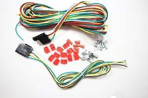 New 4 Way 25ft Trailer 5 Wires Connection Kit Flat Harness Wiring Light Rv Boat