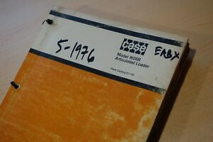 Case W36b Articulated Front Wheel Loader Spare Parts Manual Catalog Book List
