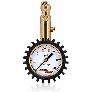 Accu Gage Rs60xa Professional Tire Pressure Gauge With Protective Rubber Guar