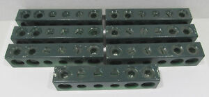 7 Ilsco Green Neutral Bar Aluminum N860 250mcm 1 0 1 0al9cu 4 11 16