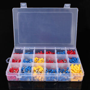 1200pcs Assorted Crimp Terminals Set Kit Insulated Electrical Wiring Connectors