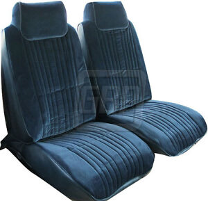 86 88 Olds 442 Cutlass Supreme Reproduction Blue Front Bucket Seat Covers