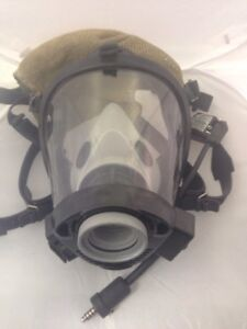Survivair 20 20 Scba Firefighter Respirator Mask Size M With Radio Comm System