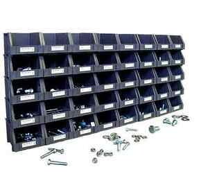 Nut And Bolt Assortment Stackable Storage Bins Open Organizer 800 Piece Metric