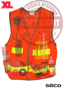 Seco 8069 54 Xl Surveyors Safety Vest Class 2 surveying topcon sokkia trimble