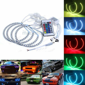 Multi color Rgb Halo Ring Led Angel Eye For Dodge Challenger Headlight 2008 2014