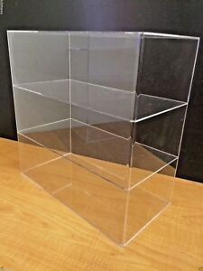 Acrylic Counter Top Display Case 16 X 8 X 16 h Show Case Cabinet Shelves