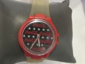 Swiss Swatch Watch  Coca Cola Watch Stars  F120