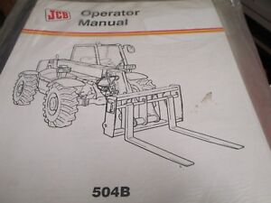 Jcb 504b Loadall Operators Manual