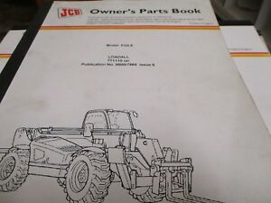 Jcb 532le Loadall Parts Book Manual