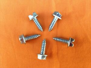 Car Dealer License Plate Screws Slotted Hex Head Self Tapping 500 Per Box