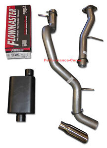 Fits 01 06 Tahoe Yukon Mandrel Bent Exhaust W Flowmaster Super 44 Muffler