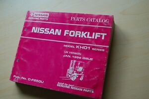Nissan Kh01 Series Forklift Truck Spare Parts Manual Book Catalog List 1996 Lift