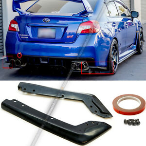 Fit 15 18 Wrx Sti Oe Style Unpainted Rear Spat Apron Valance Lip Splitter Add On