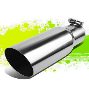 Universal Stainless Steel 2 5 Id 3 5 Od Racing Performance Exhaust Muffler Tip