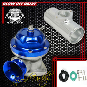 Universal Billet Anodized Type Rs Turbo Blow Off Valve Bov 2 5 Flange Pipe Blue