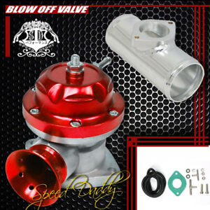 Universal Billet Anodized Type Rs Turbo Blow Off Valve Bov 2 5 Flange Pipe Red