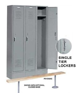 Nexel Paramount Steel Locker Storage Gym School Ps1236k Lockers 12 X 12 X 60