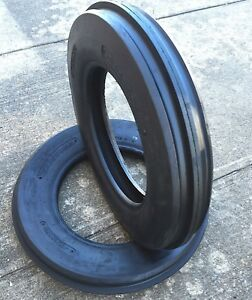 Two 350x8 350 8 3 50 8 Cub Cadet Triple Rib Front Tractor Tires