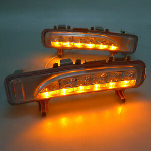 2pc For Ford Edge 2012 14 Car Front Bumper Led White Yellow Fog Lamp Lights L R