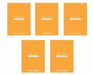 Pack Of 5 Rhodia Orange Dot Pad 6x8 25