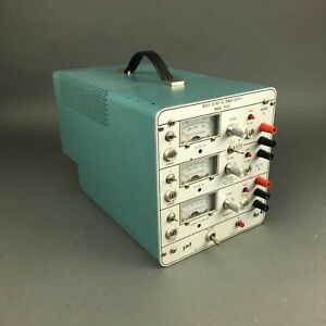 Power Designs Tp340 Triple Dc Power Supply 0 32v 1a 0 6v 5a load Tested