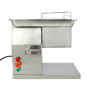 110v Meat Cutting Machine Meat Cutter Slicer 250kg Output With One Set Blade New
