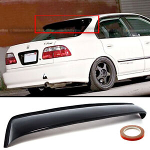 For 96 98 Honda Civic 4dr Black Tinted Rear Window Roof Vent Visor Spoiler Wing