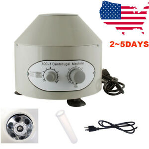 Electric Centrifuge Machine Lab Medical Practice 4000rpm 6x 20ml Rotor Us Stock