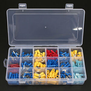 360pcs Insulated Electrical Wire Terminals Crimp Connector Spade Set