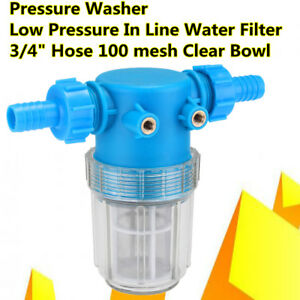 3 4 Inch 20mm Pressure Washer Universal Water Filter In Line Hose Inlet Quick Co