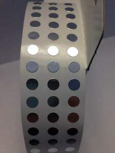 Silver 1 4 6mm Selfadhesive Round Coding Inventory Labels Dots Stickers