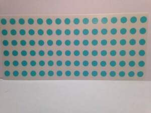 Light Blue Self Adhesive 1 4 6mm Round Coding Inventory Labels Dots Stickers