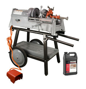 Ridgid 535 V1 Pipe Threader With Ridgid Stand Die Head Oil reconditioned