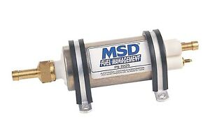 Msd 2225 Fuel Pump Electric High Pressure External Inline Universal 43gph 40psi