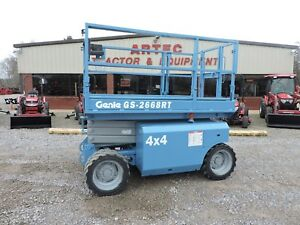 2007 Genie Gs2668rt Scissor Lift Jlg Rough Terrain 4x4 Good Condition