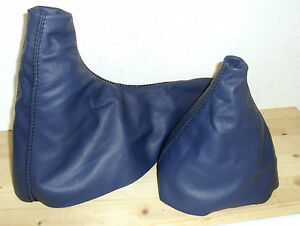 Bmw Z3 Headphones Change And Brake Hand Made Real Leather Blue