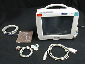 Philips Intellivue Mp50 Patient Monitor With Module M3001a Lead Cable
