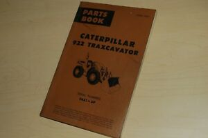 Caterpillar 922 Front End Wheel Loader Parts Manual Book Catalog Spare List 94a