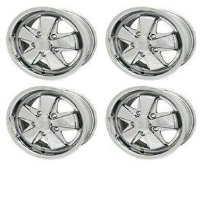 911 Alloy Wheels Polished 6 Wide 5 On 130mm Dunebuggy Vw