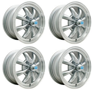 Gt 8 Wheels Silver With Polished Lip 5 5 Wide 4 On 130mm Dunebuggy Vw