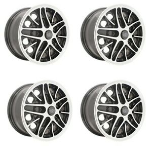 Cosmo Wheels Gloss Black With Polished Lip 5 On 205mm 5 1 2 Dunebuggy Vw