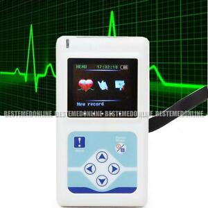 2016 Updated 3 channel Ecg Holter Recorder System Monitor new Analyzer Software