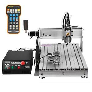 Usb 4 Axis Cnc 6040z 3d Spindle Router Engraver Cutting Milling Carving Machine