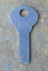 Antique Corbin Steamer Trunk Key Corbin Cabinet Lock Co W100 Flat Steel Key