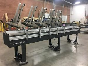 Streamfeeder 5 Station Kitting Collator With 12 Foot Collating Base