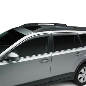 Oem 2010 2014 Subaru Outback Side Window Deflectors Rain Guards New E3610aj200